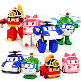 Wholesale Deformation Car Robot Action Figure Robot Mini Toys Deformation Car Fire Engines Ambulances Helicopter Gift for Children