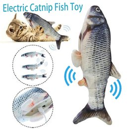 Wholesale Electronic Pet Cat Toy Electric USB Charging Simulation Fish Toys for Dog Cat Chewing Playing Biting Supplies