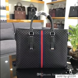 Luxury business briefcase man online shopping - Laptop Luxury Genuine Men Bag Stylish Male Business Shoulder Briefcase Double layers Space cm