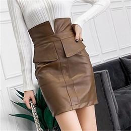 $enCountryForm.capitalKeyWord Australia - Nvyou Gou Women Black Pu Leather Skirt Autumn Winter High Waist Skirt Bodycon Sexy Mini Streetwear Skirt Office Lady Casual Wear Y19072001