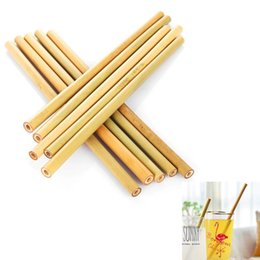 Wholesale Bamboo Straw Reusable Straw cm Organic Bamboo Drinking Straws Natural Wood Straws For Party Birthday Wedding Bar Tool