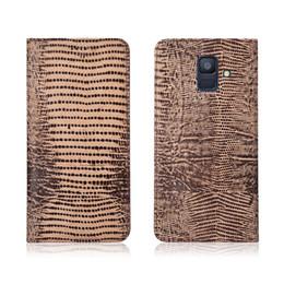 $enCountryForm.capitalKeyWord NZ - Lizard Pattern Genuine Leather Case With Card Slot For Samsung Galaxy A6 2018 Flip Phone Bag For Samsung Galaxy A6 2018 Flip Case Kickstand