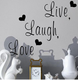Cars Wall Stickers Wallpaper Australia - Live Laugh Love Quote Wall Stickers Home Decor Art Decal Sticker Decals Quote Saying Words & Phrases Wall Sticker Wallpaper