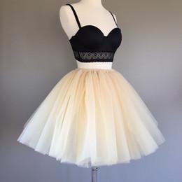 78475ea2de 7layered 50cm Tutu Tulle Skirts Womens High Waist Swing Dolly Ball Gown  Underskirt Mesh 2018 Summer Midi Skirt Faldas Saias Jupe Y19043002