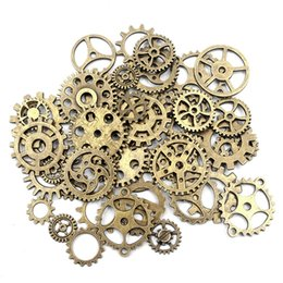 Vintage metal wheels online shopping - 65g Mixed Vintage Metal Alloy Gear Wheel Pendant Charms Jewelry Findings For DIY Bracelets Necklace Jewelry Making