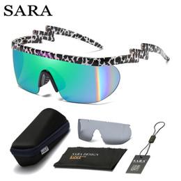 Sunglass Shades For Glasses NZ - SARA Brand Design Men's Glasses two lenses Sunglasses women's Retro Male sport Sun Glass For Men UV400 Shades sunglass