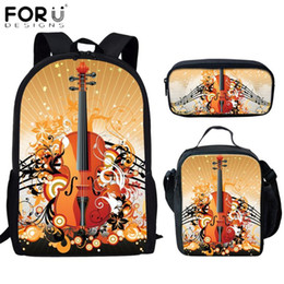 cool school bags for boys UK - FORUDESIGNS 2020 New 3Set School Bags For Teen Girls Boys Cool DJ Rock Music Guitar Printed Students School Backpacks Mochila
