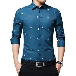 Shirt Ironing Australia - wholesale 2018 New Men's Shirts Argyle Print Jacquard Business Shirt Men Long Sleeve Regular Fit Non-iron Korean