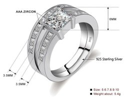 $enCountryForm.capitalKeyWord Australia - 2019 Brand Wedding Rings Set for Women 100% s925 Sterling Silver Ring 6mm Square Zircon Engagement Ring Fine Jewelry ZR354 Free Shipping