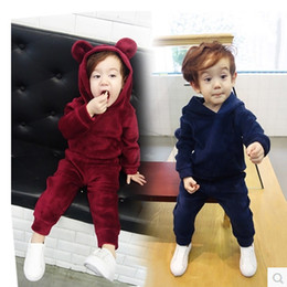 $enCountryForm.capitalKeyWord NZ - Children Girls Clothing Sets New Autumn Winter Boys Gold Velvet Hoodies+Pants 2PCS Suit Baby Kids Clothes Set 2 3 4 5 6 7 Years