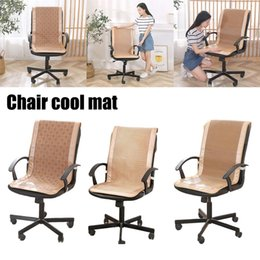 $enCountryForm.capitalKeyWord NZ - Summer Rattan Weaving Chair Cushion One-piece Seat Backrest Cushion Cool Breathable Office Chair Mat Pad Office Cool Mat