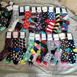 Happy Baseball Australia - High Quality Brand Happy socks British Style Plaid Socks Gradient Color Male's Fashion Personality Cotton Socks