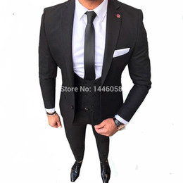 $enCountryForm.capitalKeyWord Australia - Black Costume Homme Skinny Formal Wedding Suits For Men Custom Made Mens Suits With Pants Ternos Masculino Slim Fit Tuxedo 2018