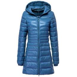 Wholesale coat casacos resale online – 7XL Winter Jackets Women White Duck Down Long Jacket Female Padded Hooded Parkas Ultra Light Portable Down Coats Casacos T200107