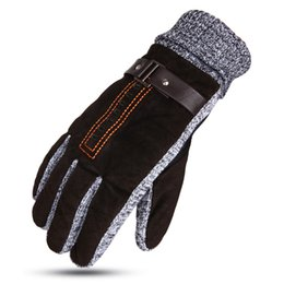 China New winter warm touch screen gloves men's plus velvet thick fashion gloves outdoor sports riding cheap velvet touch gloves suppliers