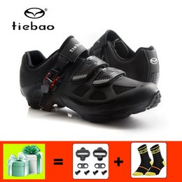 bicycles shoes NZ - TIEBAO sapatilha ciclismo mtb Cycling shoes men mountain bike sneakers self-locking breathable bicycle superstar riding shoes