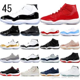 Discount emerald lace up gown With Socks 11 High XI 11s Concord 45 Cap and Gown Heiress Platinum Tint EMERALD Women Men Basketball Shoes mens trainers