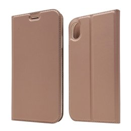 Leather Flip Cases For Iphone Australia - PU Leather Wallet Case Card Slot Holder Flip Cover For iPhone XS Max XR X 6 7 8 Plus Samsung Galaxy S10 S10e