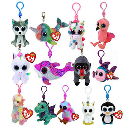 Big eye monkey plush online shopping - Ty Beanie Boos Big Eyes Plush Keychain Toy Doll Fox Owl Dog Unicorn Penguin Giraffe Leopard Monkey Toy
