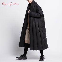 Womens Parkas Australia - Original fashion style winter long down womens jacket thicken coat loose warm parkas cloak type outwear soft fabric comfortable