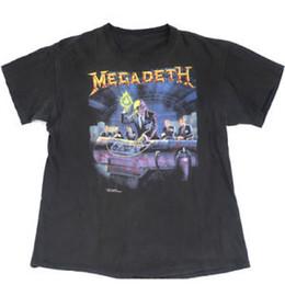 2ebb777a3868 Vintage Megadeth T-Shirt Rust In Piece 1990 Tour Concert 90s Heavy Metal