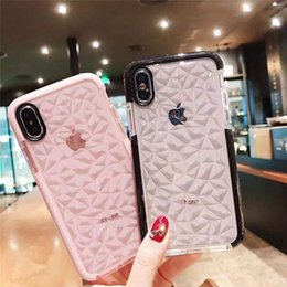Clear Protector Case Iphone Australia - For iPhone XR XS MAX cases Diamond patte Soft Silicone Shockproof Cover Protector Crystal Bling Glitter Rubber TPU Clear case For 8 6