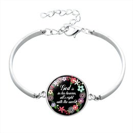 wholesale faith bracelets Australia - Handmade Christian Bible Verse Faith Inspirational Jewelry Gift Religious Glass Bezel Bangle Bracelet for Women Men