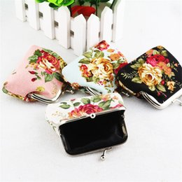 $enCountryForm.capitalKeyWord Australia - Coin Purses Bulk 12pcs Rose Pattern Girls Women Mini Money Bag Pocket Change Purse Key Holder Wallet For Children Christmas Gift