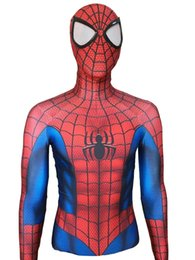 spider man cosplay zentai UK - New Comic Ultimate Spider-Man Superhero Costume 3D Print Fullbody Halloween Cosplay Suit Spiderman Costume