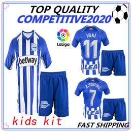 377ab9312 kids kit 18 19 Camiseta Deportivo Alaves Soccer Jerseys 2018 2019 Alaves  child IBAI BURGUI GALLERI TWUMASI Munir Guedetti Football shirts