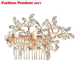 Crystal Tiara Hair Clip Australia - Flower Crystal Wedding Hair Jewelry Accessories Fashion Hair Combs Bridesmaids Tiara Hair Clip For Women Headwear