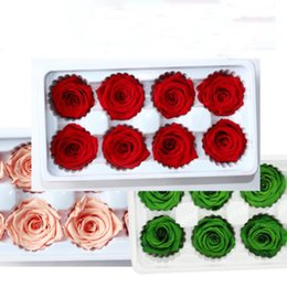 Discount preserve flowers - Artificial Flowers Rose 8pcs 1set 4-5CM Romantic Flower Preserved Flower Valentine's Day Eternity gift mother'