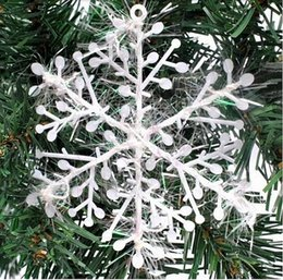 $enCountryForm.capitalKeyWord Australia - Hot 11x11cm Snowflake Christmas Decoration White Christmas Hanging Decoration High Quality Christmas Supplies Wholesale Free Shipping
