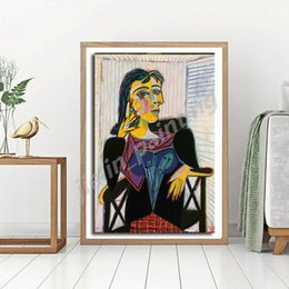 bedroom painting portraits Australia - Portrait Of Dora Maar By Pablo Picasso HD Canvas Painting Print Bedroom Home Decor Modern Wall Art Oil Painting Poster Framework