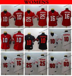 12ed526f38e Womens San Francisco Ladies 49ers 10 Jimmy Garoppolo 25 Richard Sherman 16 Joe  Montana 80 Jerry Rice Girls Football Jerseys