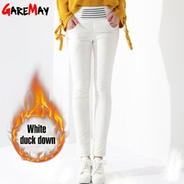 $enCountryForm.capitalKeyWord Australia - Warm Women's Trousers Winter 2019 New Winter Pants Women White Color High Waist Duck Down Pants For Women Female Thick Garemay MX190716