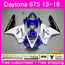 $enCountryForm.capitalKeyWord Australia - Body kit For Triumph Daytona 675 13 14 15 16 Bodywork 45HM.6 Top White Blue Daytona-675 Daytona 675 Daytona675 2013 2014 2015 2016 Fairings