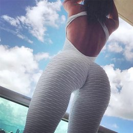 addf82e962 Spring and summer new hot fitness suit women's sexy backless yoga sports  pants hips jumpsuit comfortable and attractive