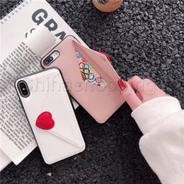 Cute Cases for samsung online shopping - Cute Love envelope card phone case love card wallet phone case back cover For iphone Xs Max X XS XR Plus