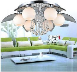 $enCountryForm.capitalKeyWord Australia - Modern K9 Crystal Colrful LED Light Chandelier Lamp Home Deco Glass Ball LED Chandelier Light Fixture Remoter Control