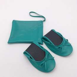 Foldable Flats Wholesale Australia - Pu new color pu lady foldable after party flat with bag in good price