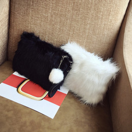 envelope style purses NZ - 2018 lady hand bag women's clutch envelope bag female Handbag purse bags Winter Faux Fur Hair Clutch Bag