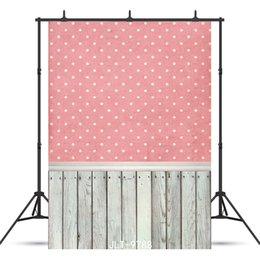 $enCountryForm.capitalKeyWord Australia - pink wallpaper wooden floor Vinyl photography background for portrait children baby shower new born backdrop photo shoot photocall