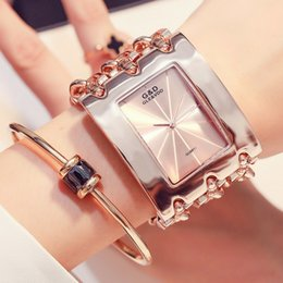 $enCountryForm.capitalKeyWord Australia - hOT Sales Fashion Watch Women Wristwatches Diamonds Rectangle Dial Stainless Steel Chain Band Analog Ladies Watches C19010301
