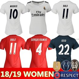 Wholesale Women ISCO Real Madrid home Soccer Jerseys Real Madrid Women away soccer Shirts lady rd red Football uniforms ASENSIO girl