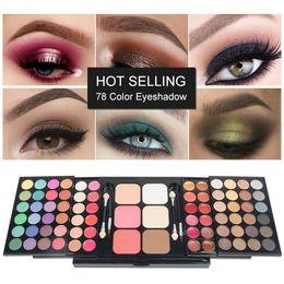 $enCountryForm.capitalKeyWord Australia - Cosmetics Makeup VERONNI 78 Color Eyeshadow Pallete Set Make up Palette 48 Eyeshadow + 24 Lip Gloss +6 Foundation face powder Blush Makeup K