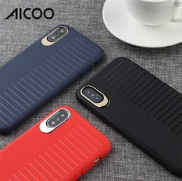 Red coloR mobiles online shopping - AICOO Scrub Simple Solid Color Mobile Phone Case Stripe Shockproof Full Protection Soft Case for iPhone XS MAX XR X Plus Retail Package