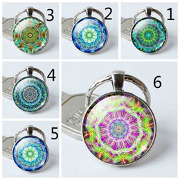 Plates Gift Europe UK - 2019 fashion creative pendant keychain Foreign trade Europe and America Mancha Luo time gemstone glass keychain Gift ornaments