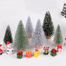 $enCountryForm.capitalKeyWord Australia - Figurines & Miniatures 2pcs Set Micro Christmas Tree PVC Decorative Crafts Mini Ornaments Fairy World Home Decoration Xmas Gift For Kids