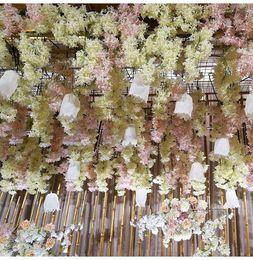 $enCountryForm.capitalKeyWord Australia - 90cm long Artificial Cherry Blossom Flower Colourful Wedding Decorations Flowers Simulation Sakura Branch Photography Take Photo Props